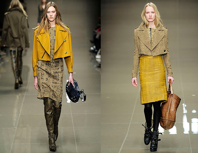 burberry aw10 yellow
