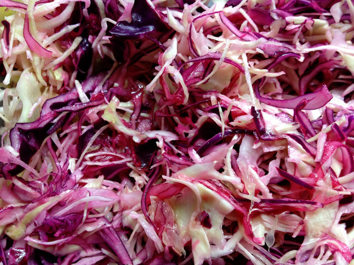 Red and white cabbage slaw fish taco recipe isabelleoc for Fish taco red cabbage slaw
