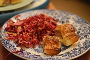 christmas-meal-peckham-slaw-sausage-rolls