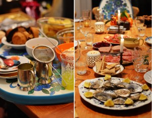 christmas-meal-peckham-snacks-gin-mulled-oysters