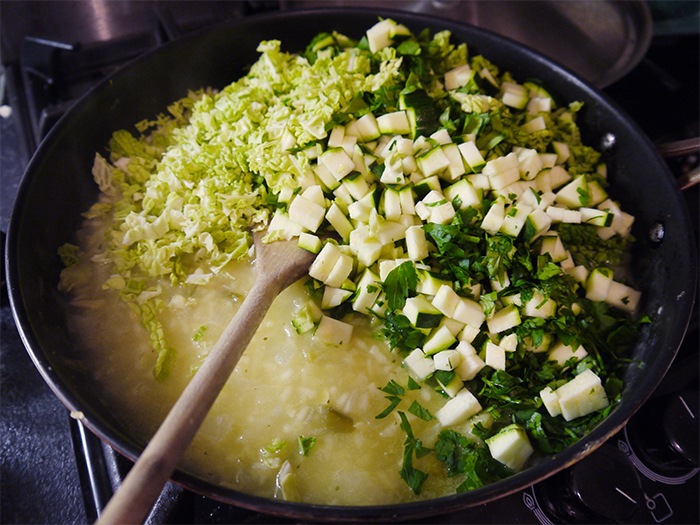 our-greens-risotto-courgette-spinach-cabbage-parsley